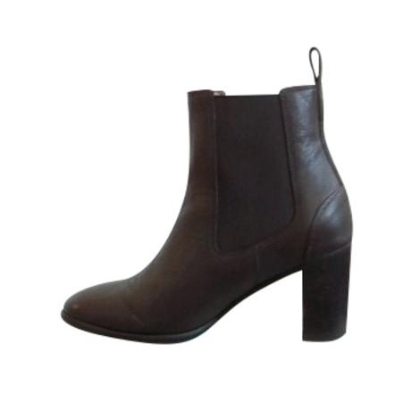 High Heel Ankle Boots HESCHUNG Brown