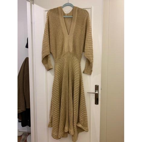 Robe longue CHLOÉ Doré, bronze, cuivre