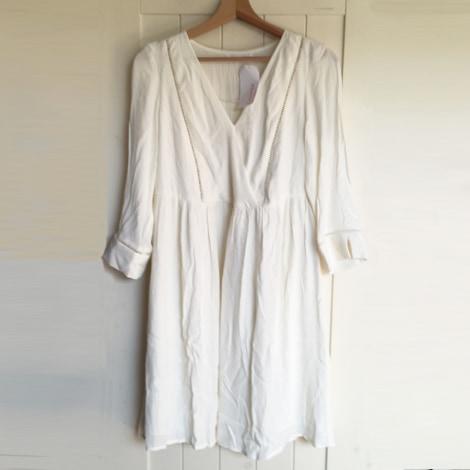 Robe courte CAMAIEU Blanc, blanc cassé, écru