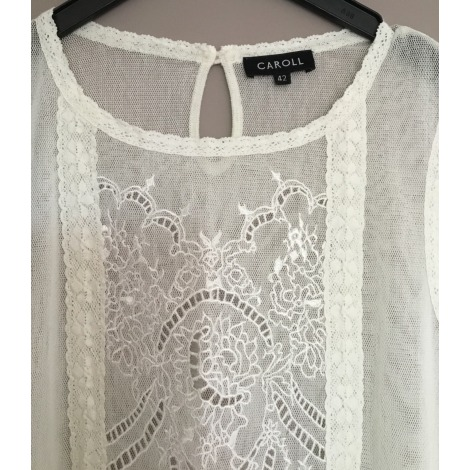 Top, tee-shirt CAROLL Blanc, blanc cassé, écru