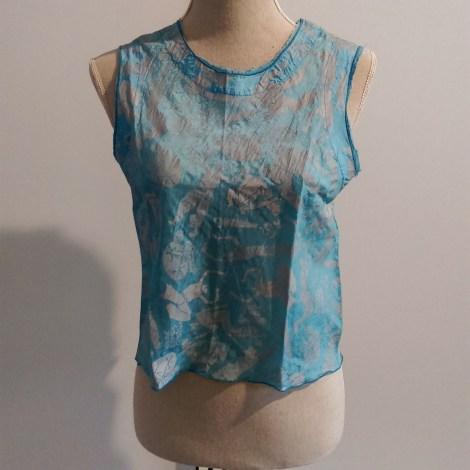 Top, tee-shirt MARITHE +FRANÇOIS GIRBAUD Bleu, bleu marine, bleu turquoise