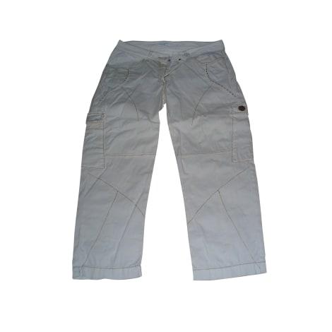 Pantalon droit ELISA CAVALETTI Blanc, blanc cassé, écru