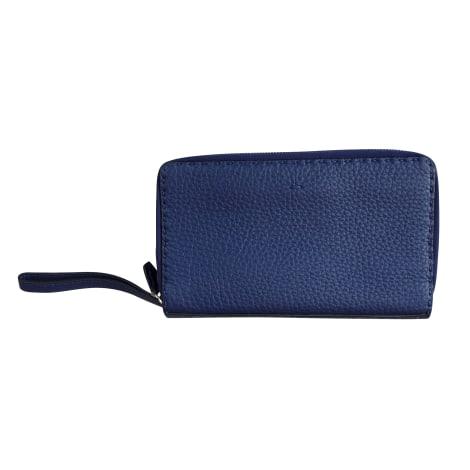 Sac pochette en cuir FENDI Bleu, bleu marine, bleu turquoise