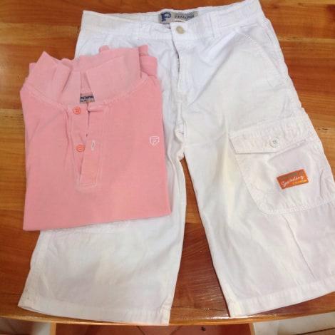 Shorts Set, Outfit PETIT PATAPON White, off-white, ecru
