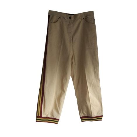 Pantalon large JEAN PAUL GAULTIER Beige, camel
