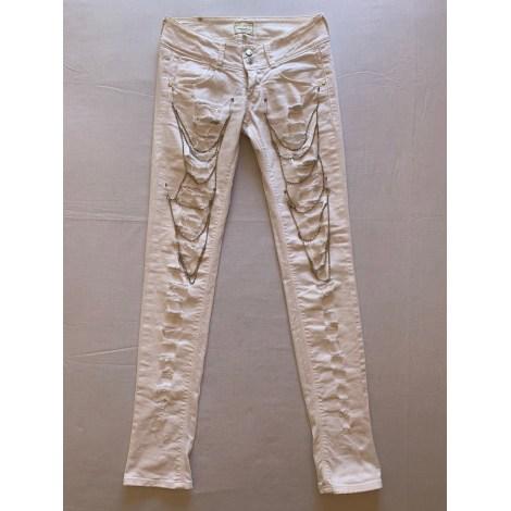 Jeans slim MET Blanc, blanc cassé, écru