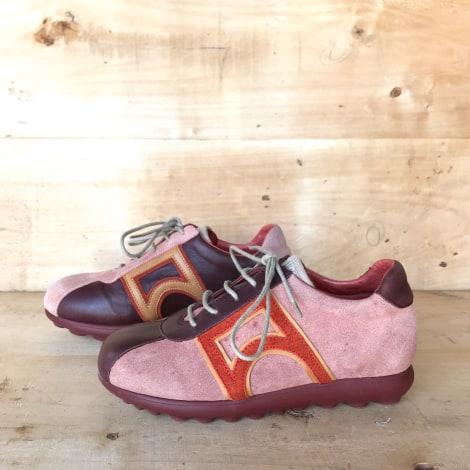 Chaussures à lacets  CAMPER Rouge, bordeaux