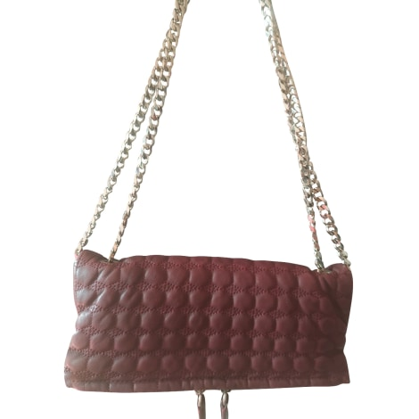 Leather Handbag IRO Red, burgundy