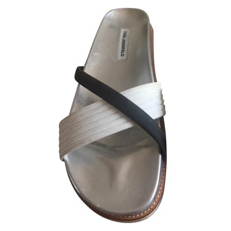 Sandales plates  KARL LAGERFELD Blanc, blanc cassé, écru