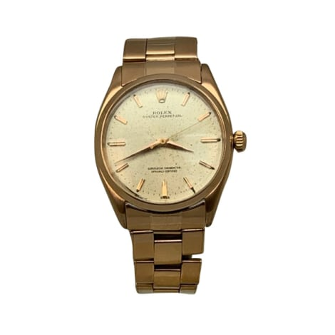 Armbanduhr ROLEX OYSTER PERPETUAL champagne