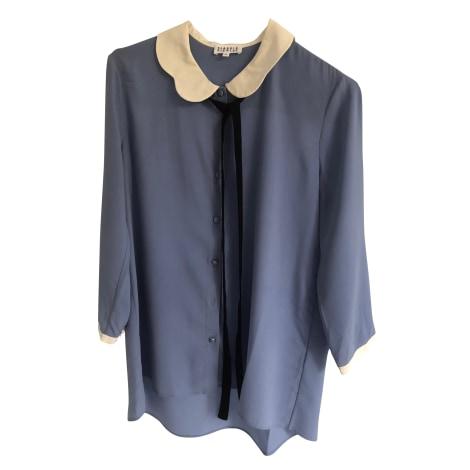 Blouse CLAUDIE PIERLOT Bleu, bleu marine, bleu turquoise