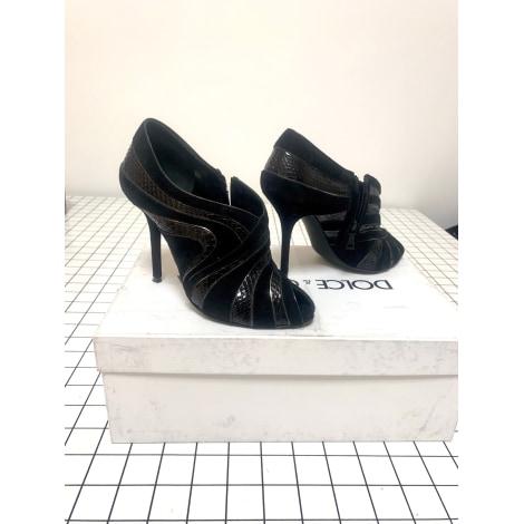 Bottines & low boots à talons DOLCE & GABBANA Noir