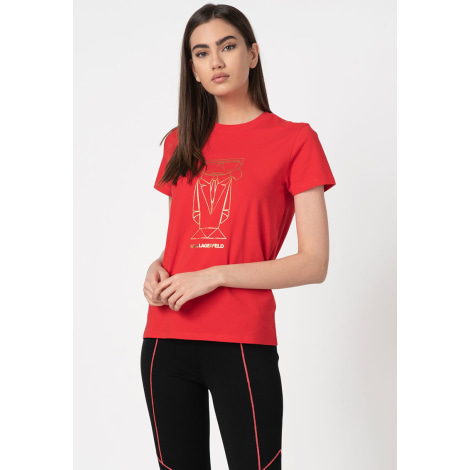 Top, tee-shirt KARL LAGERFELD Rouge, bordeaux