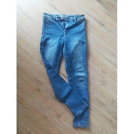 Jeans slim CAMAIEU Bleu, bleu marine, bleu turquoise