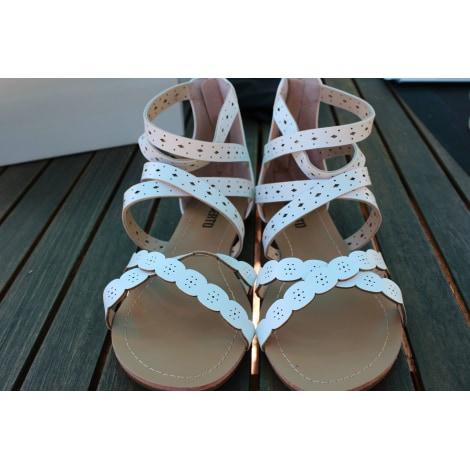 Sandales plates  LIBERTO Blanc, blanc cassé, écru