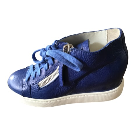 Baskets SANTONI Bleu, bleu marine, bleu turquoise