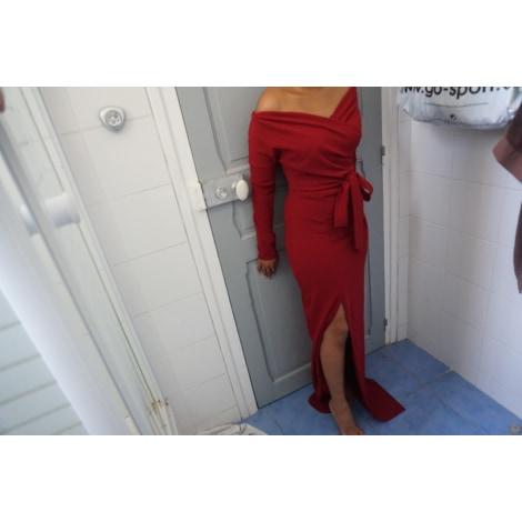 Robe longue BOOHOO Rouge, bordeaux