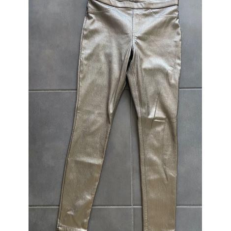 Pantalon slim, cigarette HUE Doré, bronze, cuivre