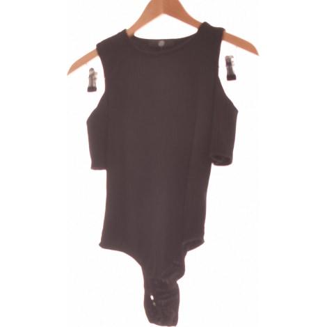 Top, tee-shirt MISSGUIDED Noir