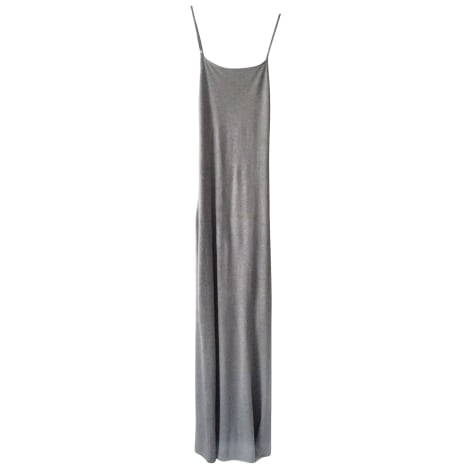 Robe longue THIERRY MUGLER Gris, anthracite
