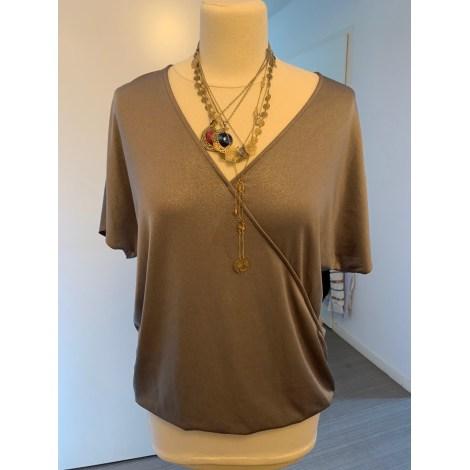 Top, tee-shirt PROMOD Doré, bronze, cuivre