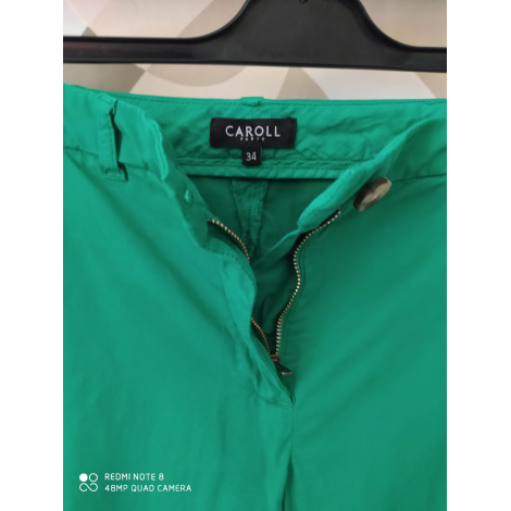 Pantalon droit CAROLL Vert