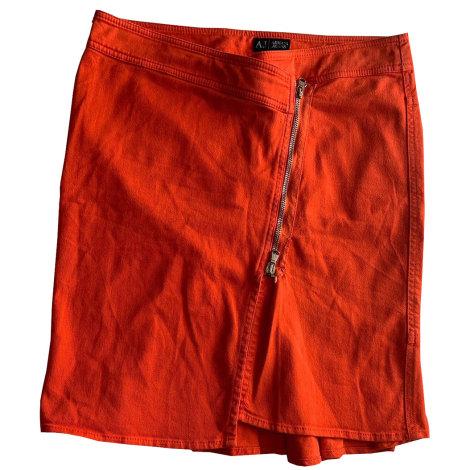 Jupe mi-longue ARMANI JEANS Orange