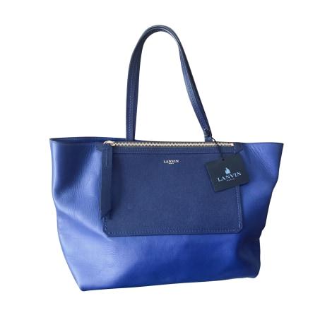 Ledertasche groß LANVIN Blau, marineblau, türkisblau