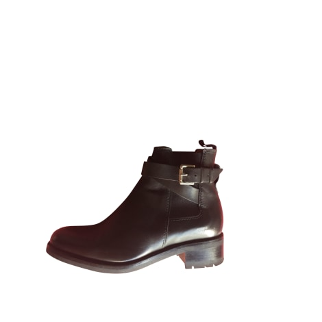 Flat Ankle Boots HESCHUNG Black