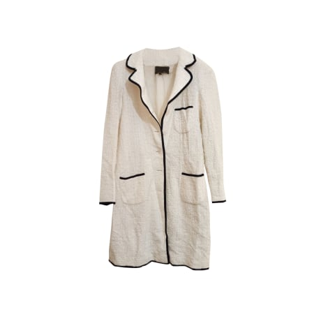 Manteau GEORGES RECH Blanc, blanc cassé, écru