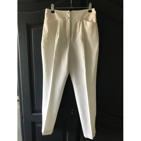 Pantalon carotte VINTAGE Blanc, blanc cassé, écru