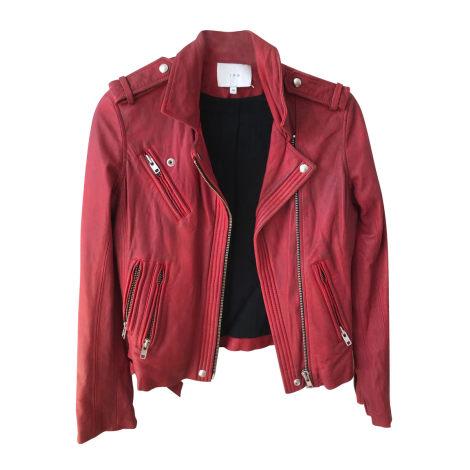 Leather Jacket IRO Red, burgundy