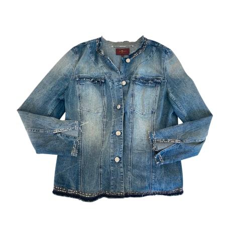 Veste en jean 7 FOR ALL MANKIND Bleu, bleu marine, bleu turquoise