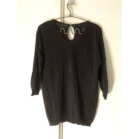 Top, tee-shirt MANGO Gris, anthracite