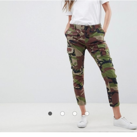 Pantalon droit REPLAY camouflage