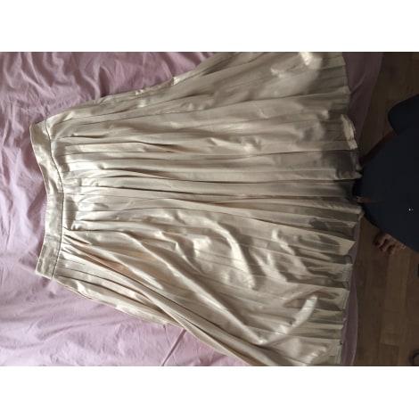 Jupe mi-longue ETAM Doré, bronze, cuivre