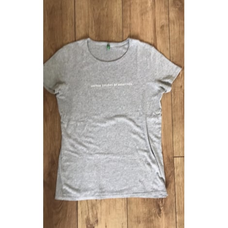 Top, tee-shirt BENETTON Gris, anthracite