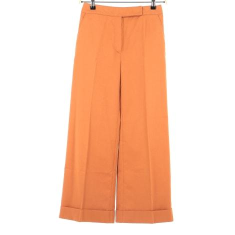 Pantalon droit VALENTINO Orange