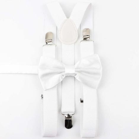Suspenders MARQUE INCONNUE White, off-white, ecru