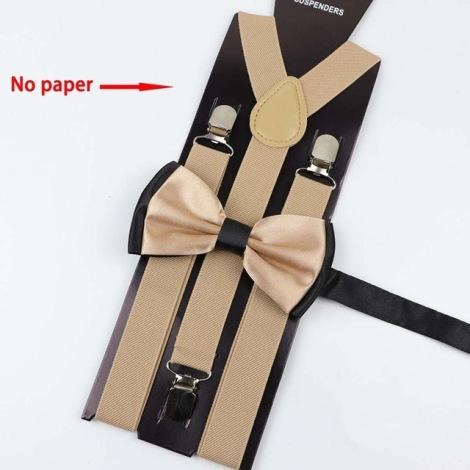 Suspenders MARQUE INCONNUE Beige, camel