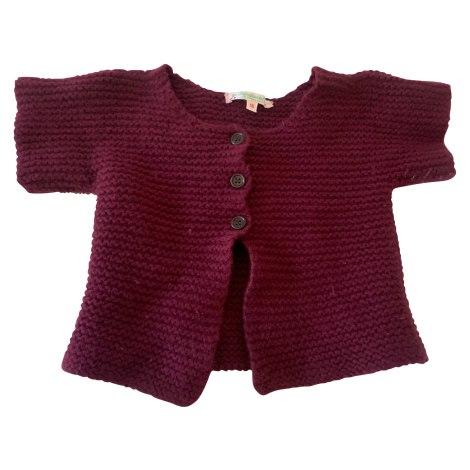 Vest, Cardigan BONPOINT Red, burgundy