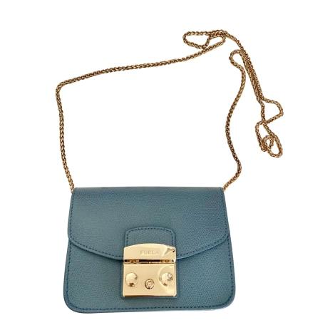 Sac en bandoulière en cuir FURLA Bleu, bleu marine, bleu turquoise