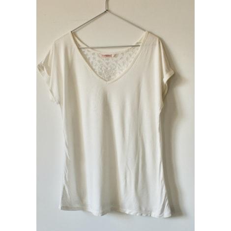 Top, tee-shirt CAMAIEU Blanc, blanc cassé, écru