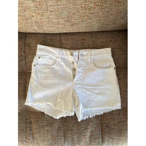 Short MANGO Blanc, blanc cassé, écru