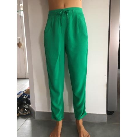 Pantalon carotte CAROLL Vert