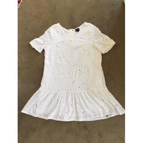 Robe courte BERENICE Blanc, blanc cassé, écru