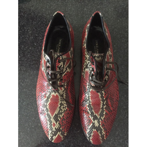 Chaussures à lacets DOLCE & GABBANA Rouge, bordeaux