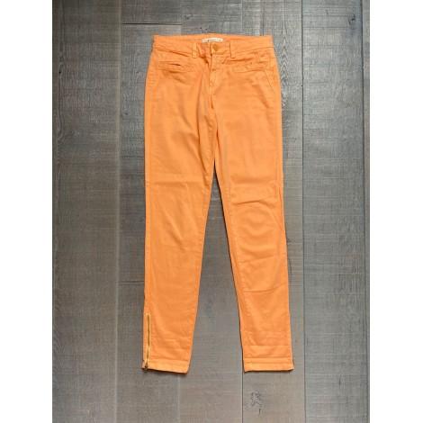 Pantalon slim, cigarette SUD EXPRESS Orange