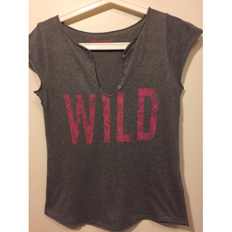 Top, tee-shirt ZADIG & VOLTAIRE Gris, anthracite