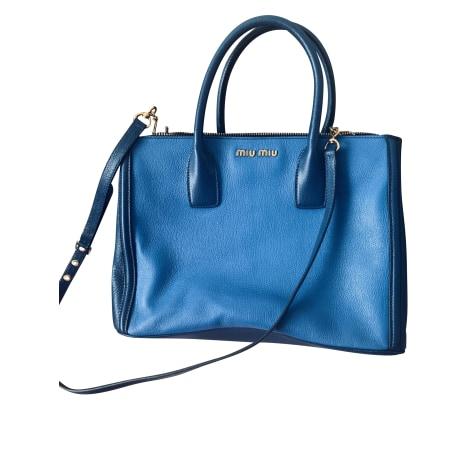 Sac en bandoulière en cuir MIU MIU Bleu, bleu marine, bleu turquoise